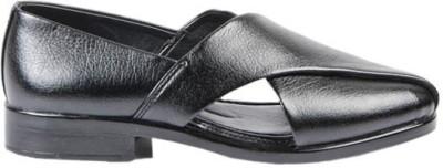 Lee Gorav Men Black Sandals