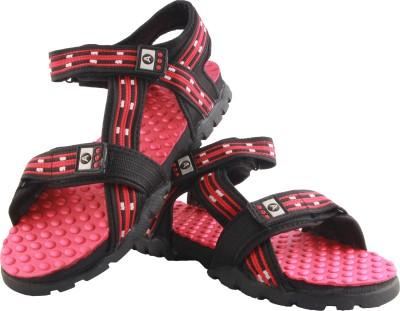 Zapatoz Men Black Sandals
