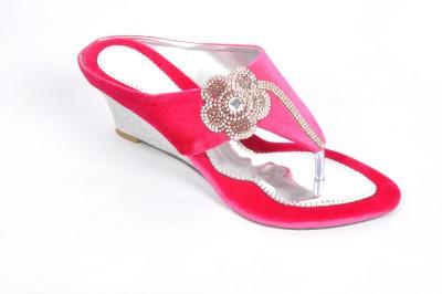 FASHBEAT Women Pink Wedges