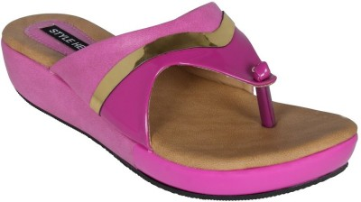 Style Her Women Pink Wedges