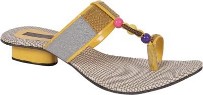 Sapyork Women Yellow Heels