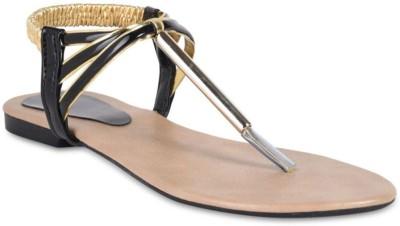 Hilly Toe Women Black Sandals
