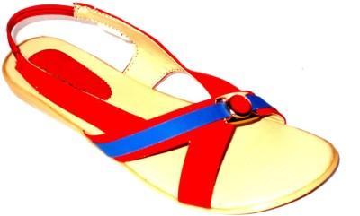 Angeela Women Red Flats