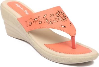 Adjoin Steps Women Orange Wedges