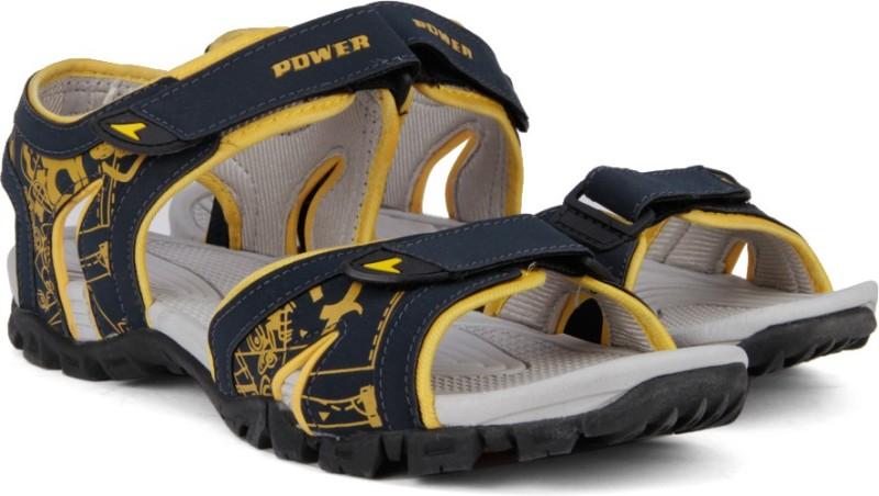 Power COSMOS Men Navy Yellow Sports Sandals