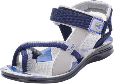 Pu-Rocks Men Blue, Grey Sandals
