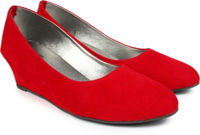 Finesse Women Red Wedges