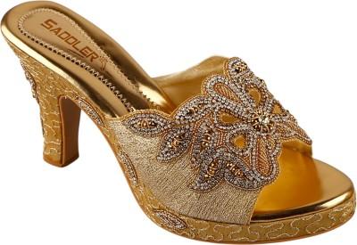Saddler Women Gold Heels