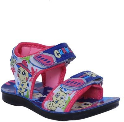 Hi Speed Baby Boys Blue, Pink Sandals