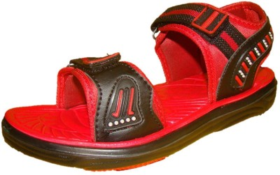 Nitin Footwear Men Black, Red Sandals