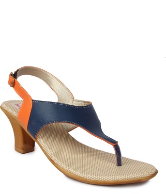 Kajjalli Women Blue Heels