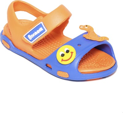 BBBonkerz Baby Boys, Baby Girls Blue, Orange Sandals