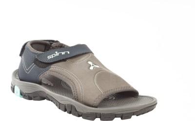Spinn Men Grey, Green Sandals