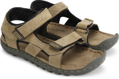 Woodland Men Khaki Sandals