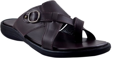 SUPREME LEATHER Men Brown Sandals