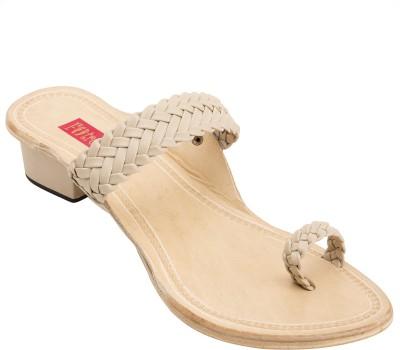 Footrendz Women Beige Heels