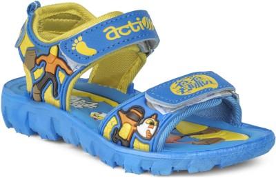 Action KS-125 Boys, Girls Blue, Yellow Sandals