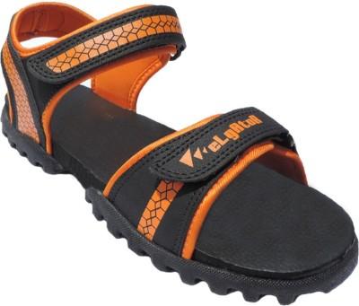 Elligator Boys Black, Orange Sandals