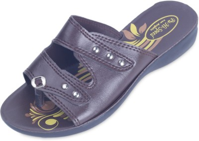 Hispeed Women Brown Wedges