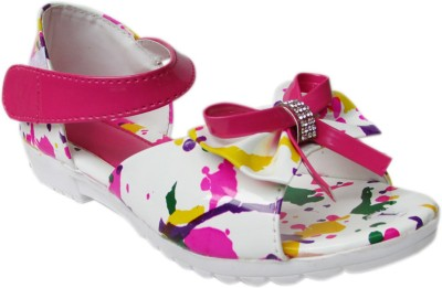 Cutie & Brat Girls White, Pink Flats