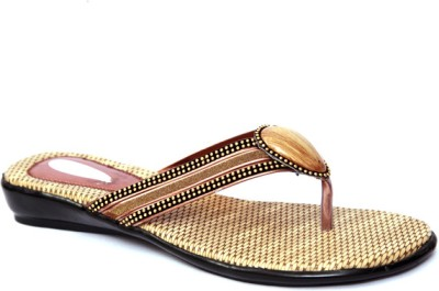 Laila Collections LATE005030BEW Women Gold Flats