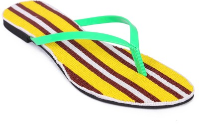 Zotti Women Yellow, Brown, White Flats