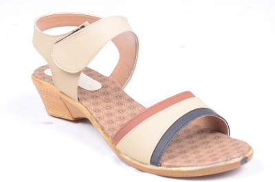 Fabme Women Yellow Wedges