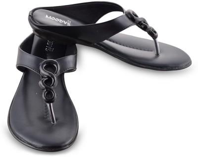 Moodys Women Black Flats