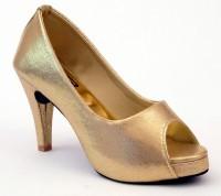 Relexop Women Gold Heels