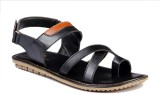 Leather Mart Men Black Sandals