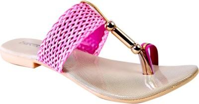 New Divas Women Pink Flats