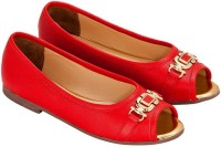 Eske Women Red Flats
