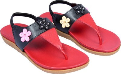 Small Toes Baby Girls Black Sandals