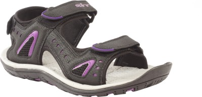 Spinn Women Black, Purple Sports Sandals