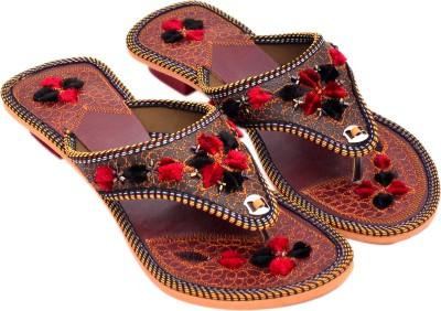 Myra Women Multicolor, Brown Heels