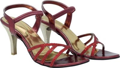 Femine Women Maroon Heels