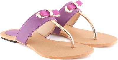 Cenizas Flat Tie Women Purple Flats