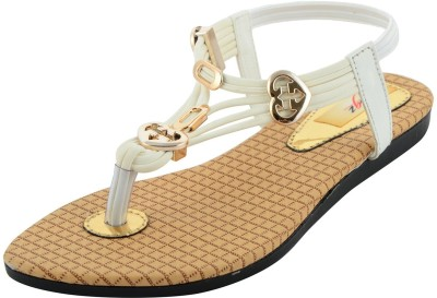 mgz Girls White Sandals