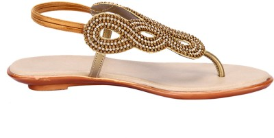 Awssm Women Gold Flats