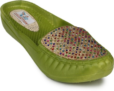 2B Collection Chill-Belly Women Green Flats