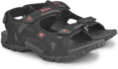 Lee Cooper Men Black, Red Sports Sandals