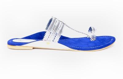 Marie Comfort Girls Silver, Blue Flats