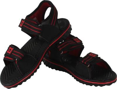 Vivaan Footwear Black-814 Men Black, Red Sandals