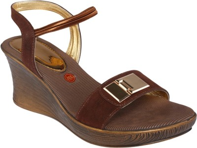 Shoe Bazar Women Brown Wedges