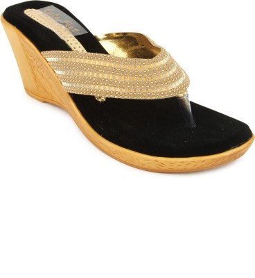 Cute Feet Women Gold Wedges
