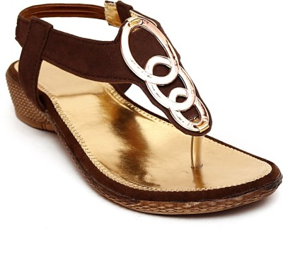Zohra Collection Women Brown Wedges