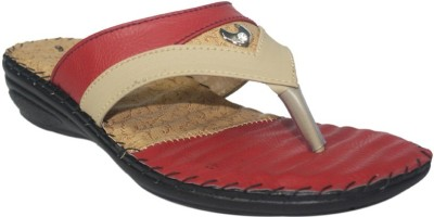 Supreme Leather Women Maroon Wedges