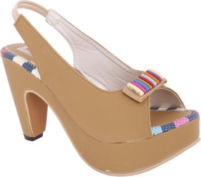 Modin Women Tan Heels