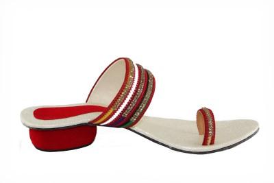Kala Sanskriti Women Red, Beige Heels