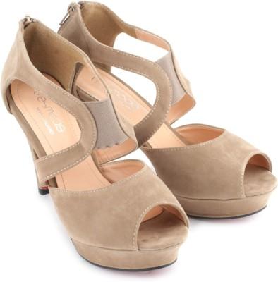 Tresmode Kstrap Women Beige Heels